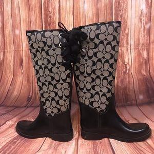 Coach Rain/Snow Boots size 6